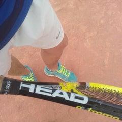 Photo taken at Tennis Club De L'Avenir Sportif De La Marsa by Skander Z. on 9/20/2015