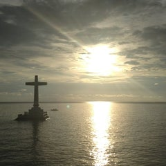 Photo taken at Sunken Cemetery Cross by Louie G. on 5/31/2013