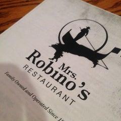 Photo taken at Mrs. Robino's Restaurant by Jen W. on 6/7/2013