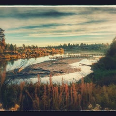 Photo taken at Deschutes River Trail Footbridge by Jim S. on 10/21/2015