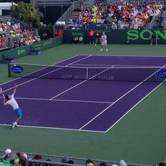 Photo taken at Grandstand Court - Sony Ericsson Open by Rafael S. on 3/22/2014