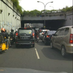 Photo taken at Underpass Pasar Minggu by Boeds H. on 11/26/2012