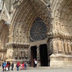 Photo taken at Cathédrale Notre-Dame de Reims by Alec D. on 5/9/2013