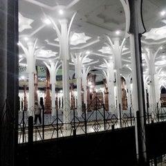 Photo taken at Masjid Agung Al-Falah by Boedac T. on 1/11/2014