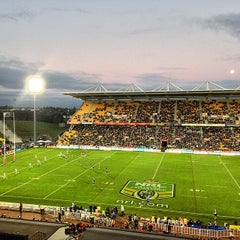 Photo taken at Mt Smart Stadium by Russell James S. on 8/10/2014