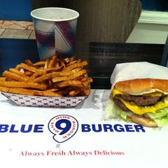 Photo taken at Blue 9 Burger by Podge N. on 10/16/2012