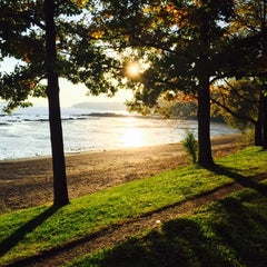 Photo taken at Plage Jacques Cartier by LesTartines on 9/28/2014
