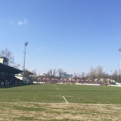 """Photo taken at Stadionul Național de Rugby """"Arcul de Triumf"""" by Viviana on 3/21/2015"""