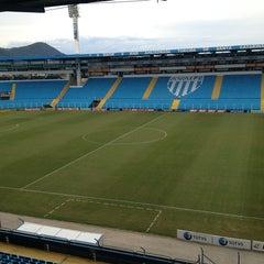 Photo taken at Estádio Aderbal Ramos da Silva (Ressacada) by Guilherme L. on 5/28/2013