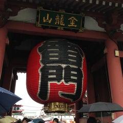 Photo taken at 浅草寺 雷門 (Kaminarimon Gate) by keiko o. on 5/11/2013