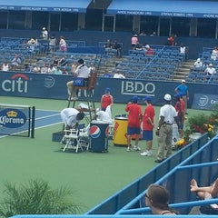 Photo taken at William H.G. Fitzgerald Tennis Stadium by Oscar A. on 7/29/2013