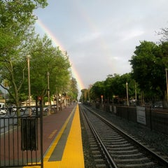 Photo taken at Menlo Park Caltrain Station by Allan C. on 4/4/2013