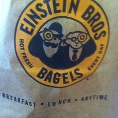 Photo taken at Einstein Bros Bagels by Jon M. on 10/28/2012