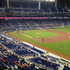 Photo taken at Marlins Park by Cristy G. on 4/15/2013