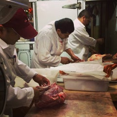 Photo taken at Florence Prime Meat Market by Markets of New York City on 11/8/2014