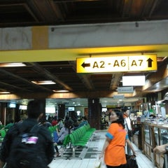 Photo taken at Bandara Sepinggan Balikpapan - Gate A6 by Annisa F. on 2/23/2014