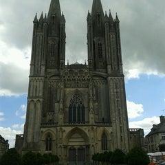 Photo taken at Cathédrale Notre-Dame de Coutances by Marie-France V. on 8/20/2013