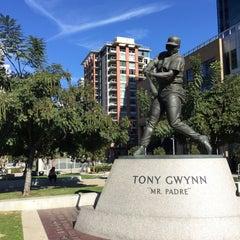 Photo taken at Tony Gwynn Statue by Michael O. on 12/27/2014