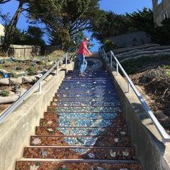 Photo taken at Hidden Garden Mosaic Steps by Mattin N. on 10/13/2015