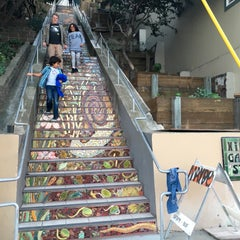 Photo taken at Hidden Garden Mosaic Steps by Stephanie E. on 11/23/2015