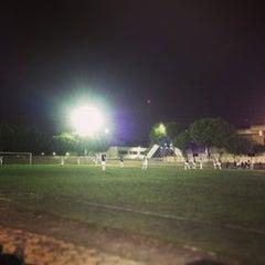 Photo taken at Cancha de Futbol de la Delegación Benito Juarez by Octavio R. on 1/30/2013