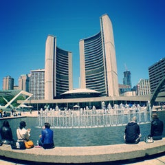 Photo taken at Nathan Phillips Square by Anil P. on 5/25/2013