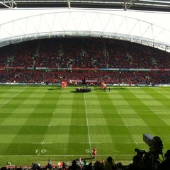 Photo taken at Thomond Park by Pat C. on 10/21/2012