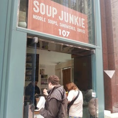 Photo taken at Soup Junkie by Stephanie P. on 3/8/2013