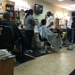 Photo taken at Bigga League Barber Shop by Bill B. on 8/15/2014