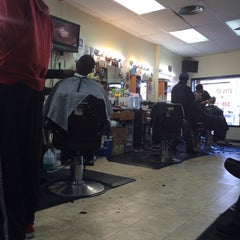 Photo taken at Bigga League Barber Shop by Bill B. on 11/16/2013