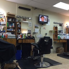 Photo taken at Bigga League Barber Shop by Bill B. on 4/26/2014
