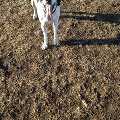 Photo taken at Kaposia Landing Off-Leash Dog Park by Ashley B. on 4/1/2014