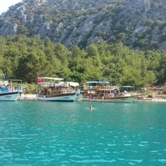 Photo taken at Olympos Deep Green Bungalows by Erdem D. on 8/7/2014