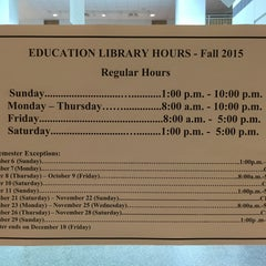 Photo taken at Education Library by Yena P. on 9/27/2015