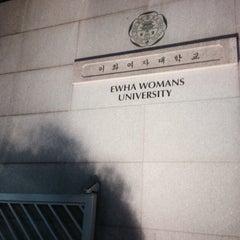 Photo taken at 이화여자대학교 신세계관 (Ewha Womans University Shinsegae Building) by Soomin L. on 12/16/2014