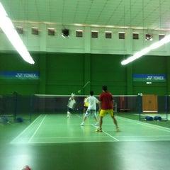 Photo taken at BJGCR Badminton Court by Kim Seng C. on 5/27/2012