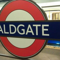 Photo taken at Aldgate London Underground Station by Daniel H. on 7/20/2012
