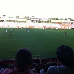 Photo taken at BSFZ Arena - Südstadt Stadion - Trenkwalder Arena by Graham B. on 8/5/2012