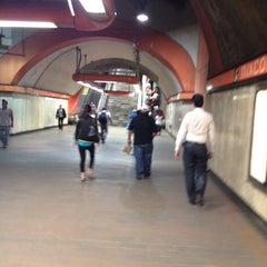 Photo taken at Metro Mixcoac (Líneas 7 y 12) by Inti Ayora on 5/30/2012