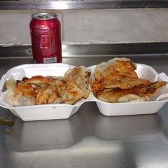 Photo taken at Shan Dong Fried Dumpling by Cesar H. on 12/18/2012