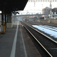 Photo taken at Gare de Renens by Frédéric R. on 2/18/2013