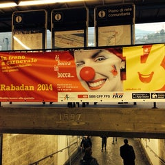 Photo taken at Stazione di Bellinzona by Evilein on 3/3/2014