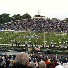 Photo taken at Foreman Field at S.B. Ballard Stadium by 🌴 Julie L. on 10/27/2012