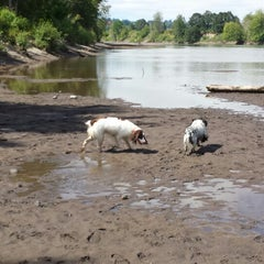 Photo taken at Thousand Acres Dog Park by Malika D. on 7/19/2014