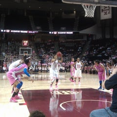 Photo taken at Reed Arena by Mike G. on 2/19/2013