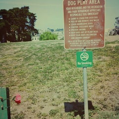Photo taken at Alamo Square Dog Park by Dogs Gone Happy on 4/13/2015