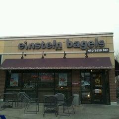 Photo taken at Einstein Bros Bagels by AsianPotato on 12/4/2012