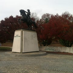 Photo taken at José de San Martin Memorial / Triangle Park by Michael R. on 11/20/2012