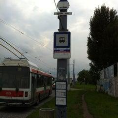 Photo taken at Řípská (bus) by Michal N. on 6/4/2013