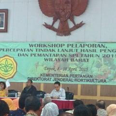 Photo taken at Gedung Sarbini Taman Wisata Wiladatika Cibubur by Immawan N.S. A. on 4/9/2015